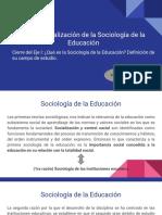 Institucionalización de La Sociología de La Educación