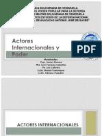 ACTORES INTERNACIONALES Y PODER