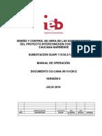 Manual Operación Subestación Guapi 115kV