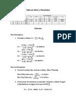 Manometria y Relacion P-h