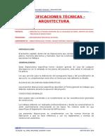 Especificaciones Tecnicas Arquitectura Modificado - Piscina de Moho - Comp 01