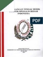 Buku Kewenangan Tindak Medis Dokter Spesialis Bedah Indonesia