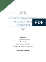 La Contenerización y Su Influencia en El Transporte