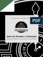 Guia de Fundos - Fundação Pró Memória São Carlos