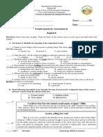 Grade 8 PEriodical Exam