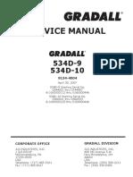 Gradall 534D9 Service Manual