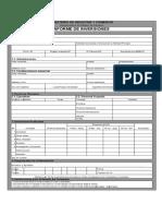 Formulario de Registro de Inversiones