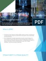 steam purity for turbine application by EPRI standard