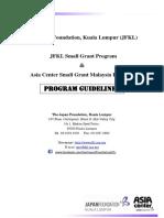 2015 Grant Program Guidelines