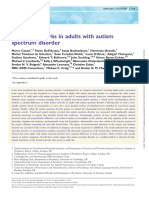 Frontal networks in adults with autism spectrum disorder
