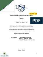 DISEÑO ORGANIZACIONAL Y PROCESOS