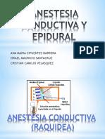 Anestesia Conductiva y Epidural 2019
