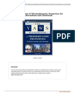 Yaws Handbook of Thermodynamic Properties for Hy