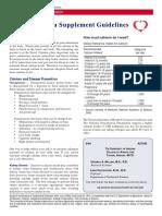 Calcium Supplementation Guidelines