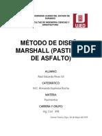 Método de Diseño Marshall (Pastillas de Asfalto)