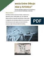 Diferencia Entre Dibujo Técnico y Artístico