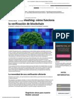 ¿Qué Es Un Árbol Merkle_ Hashing y Cómo Funciona La Verificación de Blockchain