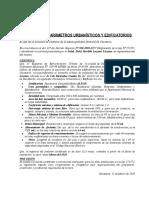 Modelo Certificado de Parametros Urbanisticos