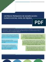 Criterios Prefijados de Significación Clínico-social