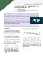 Espectroscopia UV-Vis Determinación Simultánea de Co y Cr 2019