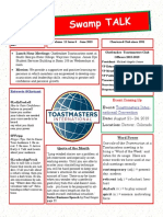 Swamp Talk, Okefenokee Toastmasters Club Newsletter, June 2019