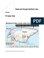 The New Silk Road and Russia Northern Sea Route