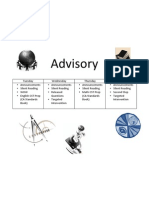 Advisory Schedule 2010-11