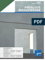 Preisliste-Massivwand