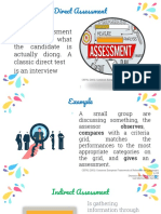 direct and indirect assessment