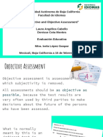 subjective and objective assessment