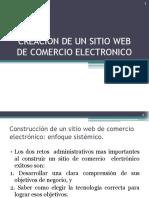 Creacion de Sitio Web Comercio Electronico