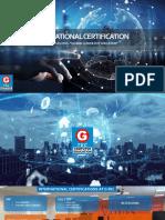 International Certification @ G-TEC