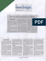 Malaya, May 29, 2019, Sin tax bill certified as urgent.pdf