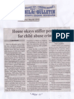 Manila Bulletin May 20, 2019, House okays stiffer penalties for child abuse crimes.pdf