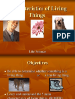 Characteristics of Living ThingsI fxghxgfh