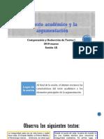 1A-1 El texto académico argumentativo (diapositivas) 2019-marzo.pptx