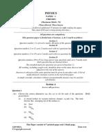 861a Physics-1 Qp