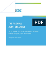 Firewall Audit Checklist WEB