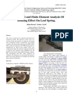 Experimental and Finite Element Analysis of Bending Effect on Leaf Spring.