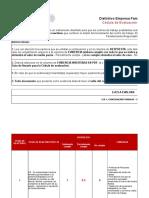 Cédula de Evaluación DEFR, 2014 (1)