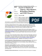 Access to Finance in Nigeria