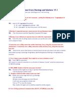 Datastage Most Common Errors