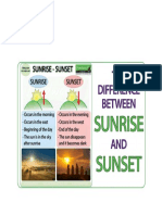 Difference between sunrise and sunset