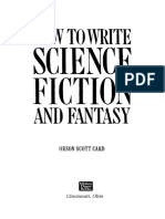 How to Write Science Fiction and Fantasy by Orson Scott Card