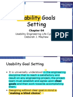 07 Usability Goals Setting