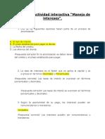 """Evidencia Actividad Interactiva """"Manejo de Intereses""""."""