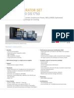 Spec Sheet Mtu 12v4000 Ds1750 Nea
