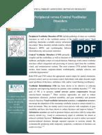 Peripheral vs Central Vestibular Disorders