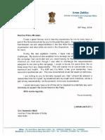 Arun Jaitley Letter
