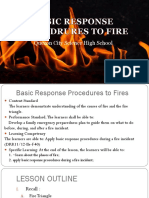 Basic Response Procedrures to Fire Demo